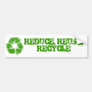 Recycle Graphic Vintage Car Bumper Sticker