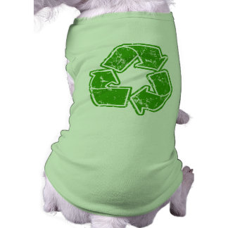 Recycle Graphic Vintage Dog Shirt