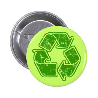 Recycle Graphic Vintage Pinback Button