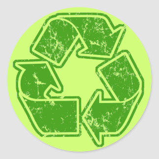 Recycle Graphic Vintage Classic Round Sticker
