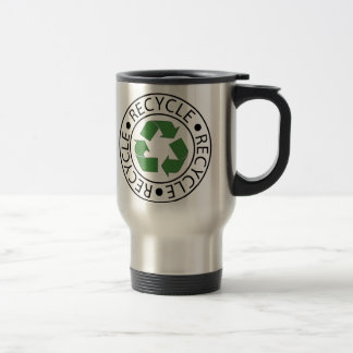 Recycle Green Center Logo Travel Mug