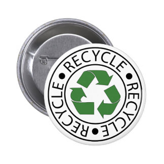 Recycle Green Ceter Logo Pins
