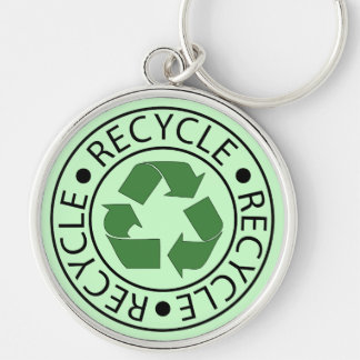 Recycle Green Ceter Logo Keychain