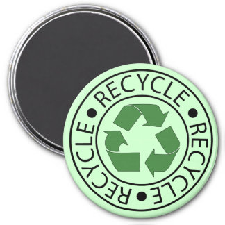 Recycle Green Ceter Logo Magnet