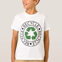 Recycle Green Ceter Logo T-Shirt