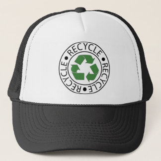 Recycle Green Ceter Logo Trucker Hat