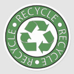 Recycle Green Classic Round Sticker