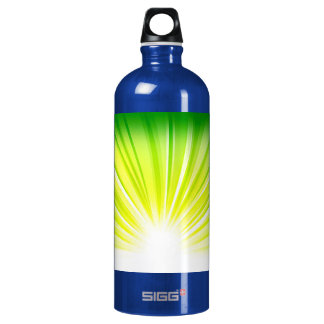 Recycle Green Eco Friendly Save Earth Rise Gradien Water Bottle