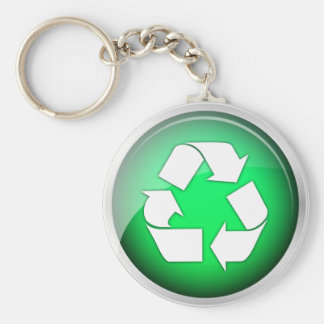 Recycle Green Icon Keychain