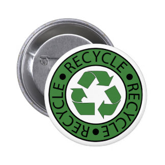 Recycle Green Logo BK Letters 2 Inch Round Button