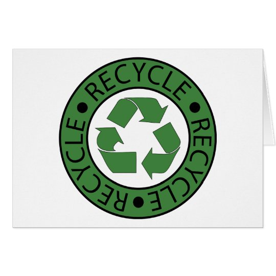Recycle Green Logo BK Letters Card