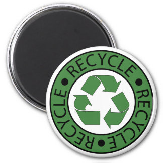 Recycle Green Logo BK Letters 2 Inch Round Magnet