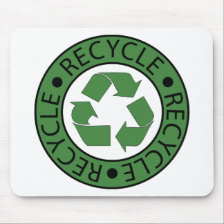 Recycle Green Logo BK Letters Mouse Pad