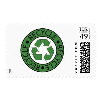 Recycle Green Logo BK Letters Stamp