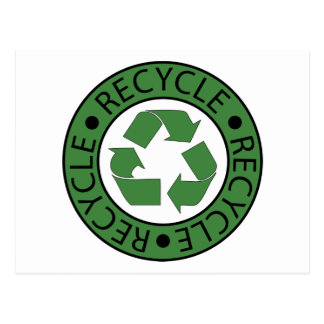 Recycle Green Logo BK Letters Postcard