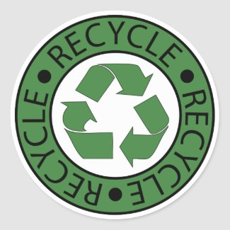 Recycle Green Logo BK Letters sticker