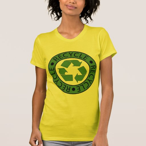 Recycle Green Logo BK Letters T Shirts