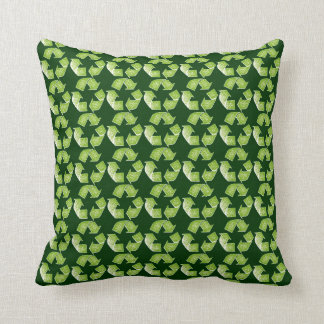 recycle green sign pillow