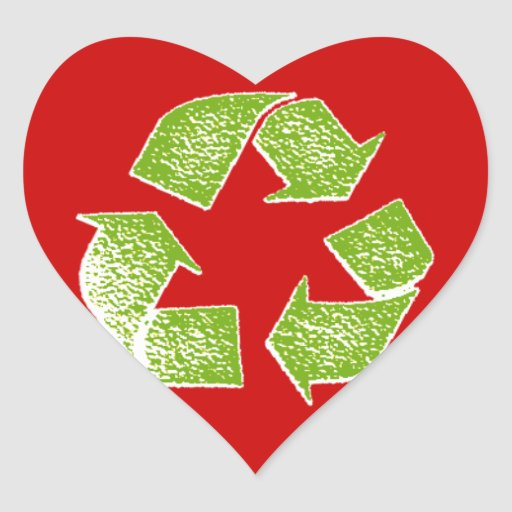 recycle green sign sticker