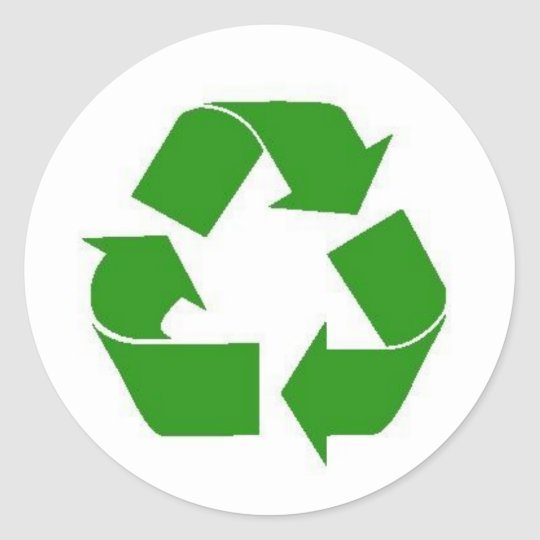 recycle green sticker