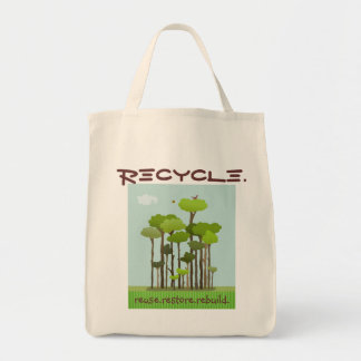 RECYCLE Grocery Tote Bag