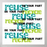 Recycle hace sus camisetas y regalos de la parte poster