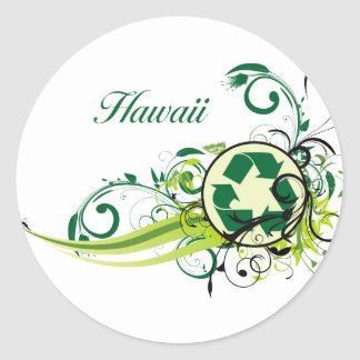 Recycle Hawaii Classic Round Sticker