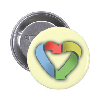 Recycle Heart -color Button