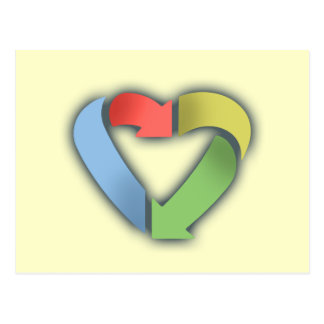 Recycle Heart -color Postcard