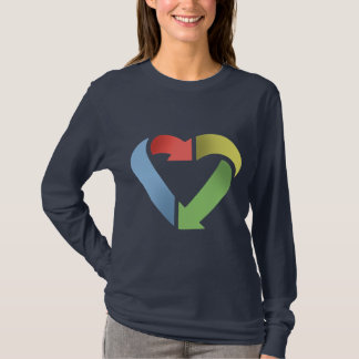 Recycle Heart -color T-Shirt