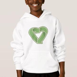Recycle Heart -green Hoodie