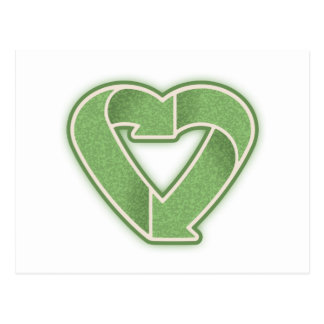 Recycle Heart -grn Postcard