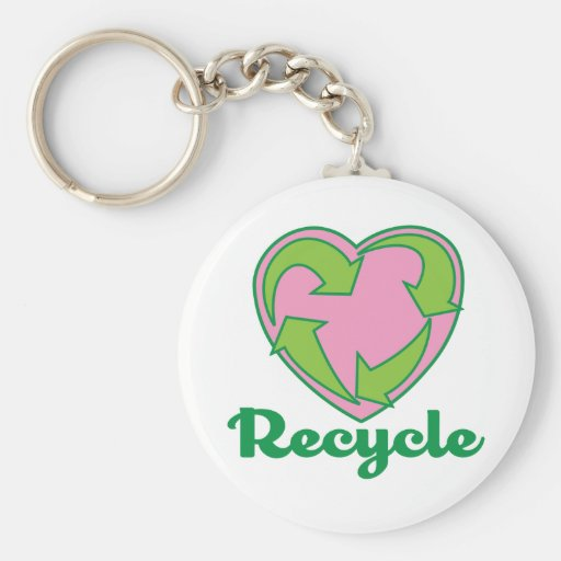 Recycle Heart Keychain