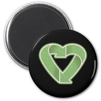 Recycle Heart Refrigerator Magnets