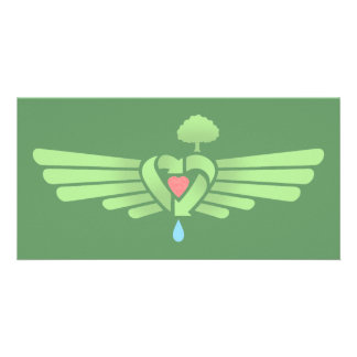 Recycle Heart Wing Card