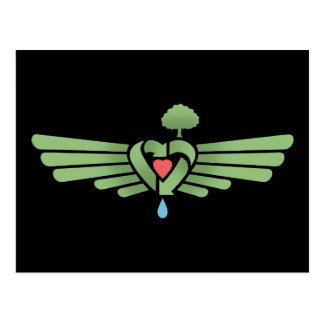 Recycle-Heart-Wing Postcard