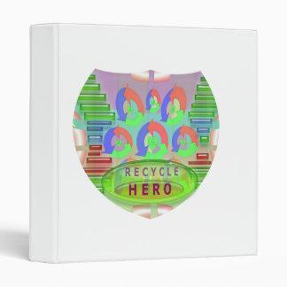 Recycle  HERO Emblem : Earth n Environment Binder