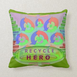 Recycle Hero - Reward Award Inspiration Throw Pillow
