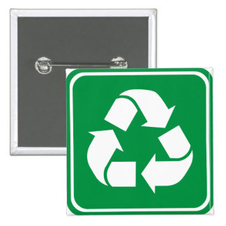 Recycle Highway Sign Pinback Buttons
