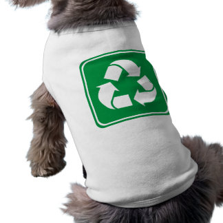 Recycle Highway Sign Doggie T Shirt