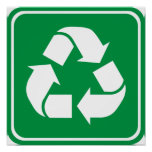 Recycle Highway Sign Print