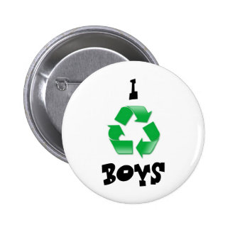 recycle, I, BOYS 2 Inch Round Button