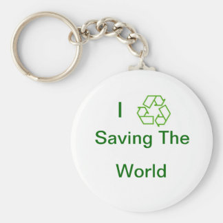 recycle, I , Saving The, World Keychain
