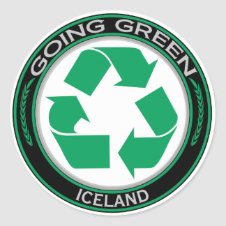 Recycle Iceland Classic Round Sticker