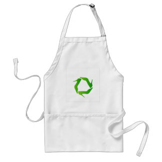 recycle icon made with shoes adult apron