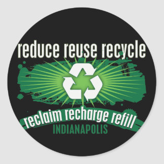 Recycle Indianapolis Classic Round Sticker