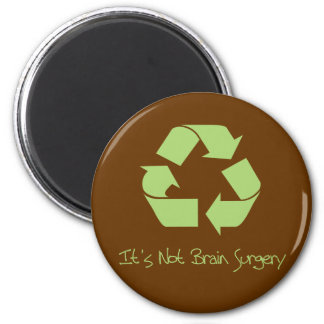 Recycle it's not Brain Surgery Magnet