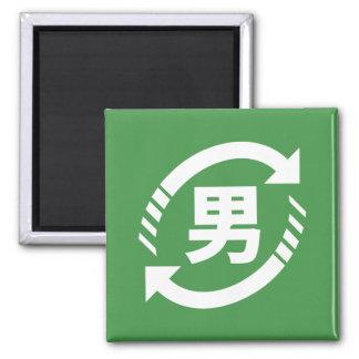 Recycle Japanese Boys | Kanji Nihongo Sign Magnet
