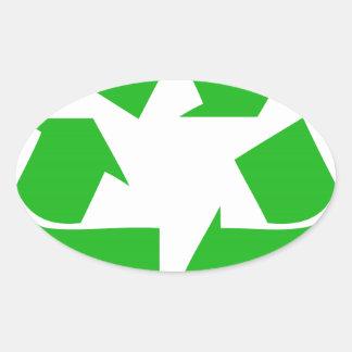 recycle.jpg oval sticker