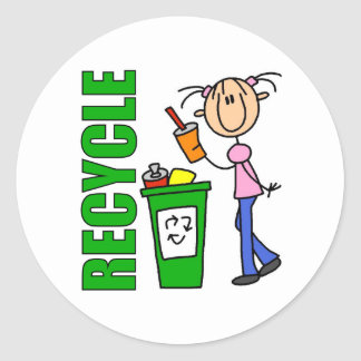 Recycle Kids Gift Classic Round Sticker